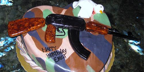 AK-47 cake