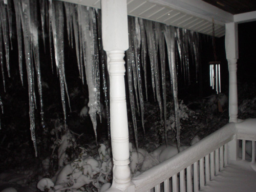 goddamn ridiculous icicles