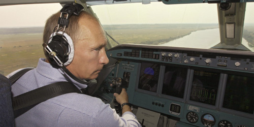Vladimir Putin and aircraft
