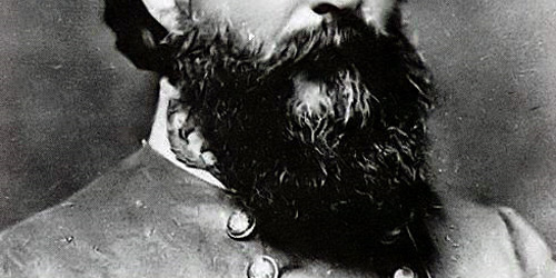 the beard of James Longstreet