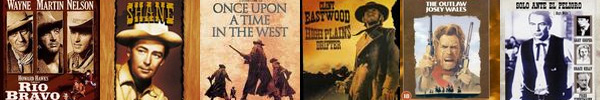 Rio Bravo, Shane, Once Upon A Time In The West, High Plains Drifter, the Outlaw Josey Wales, High Noon
