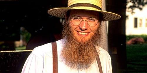 intense Amish beard