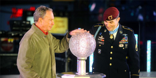 Michael Bloomberg and friend