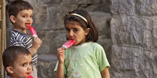 breaking news: children like ice cream