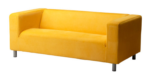 yellow love seat, pre-abandonment