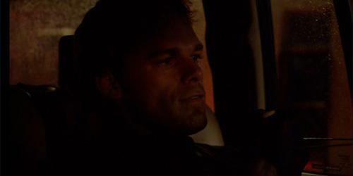 Dexter strangling a victim, though not fatally