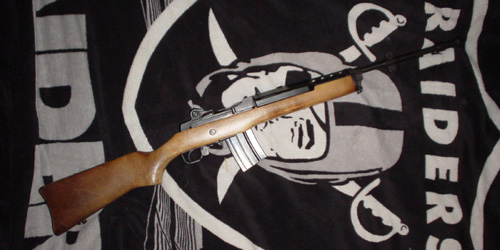 Ruger Mini-14 with original wooden stock