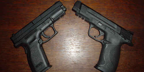 Springfield XD-9 and S&W M&P